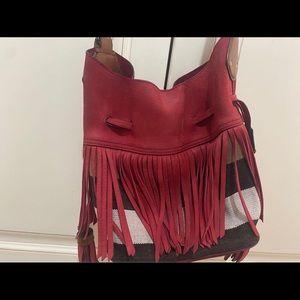 Authentic Burberry Fringe Bag